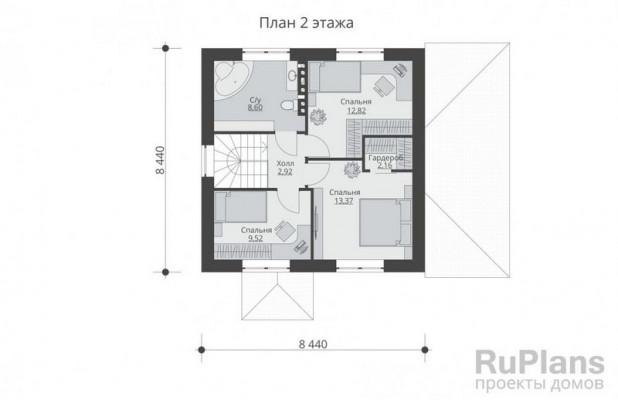 Дом 9,94 x 11,44